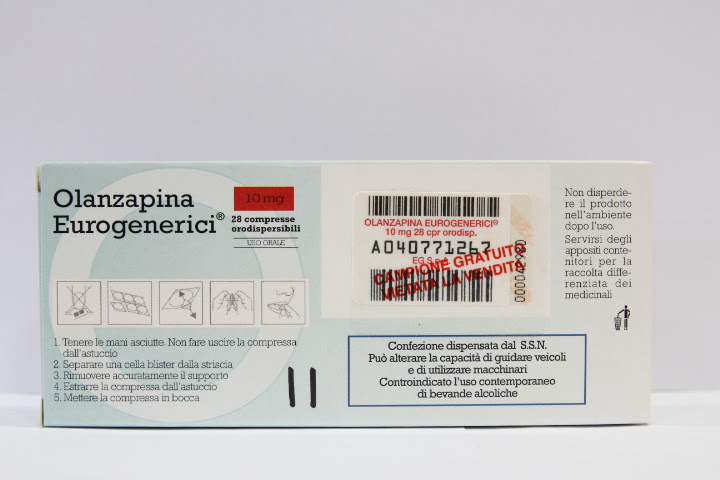 Image No: OLANZAPINA EG*28CPR ORO 10MG