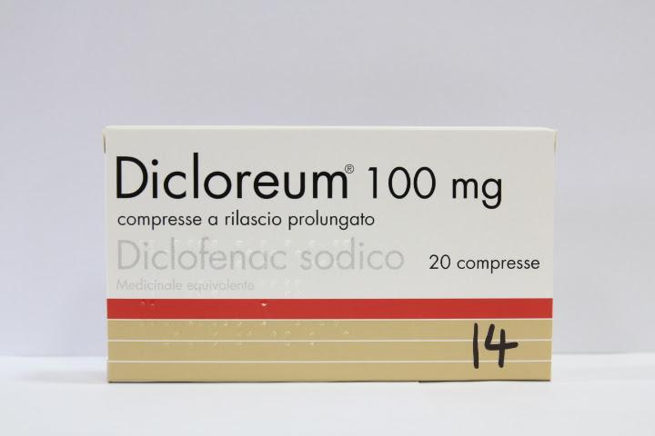 Image No: DICLOREUM(diclofenac) 20 cpr 100 mg