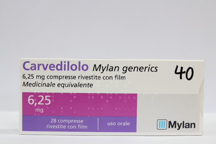 Image No: CARVEDILOLO MG*28CPR 6,25MG