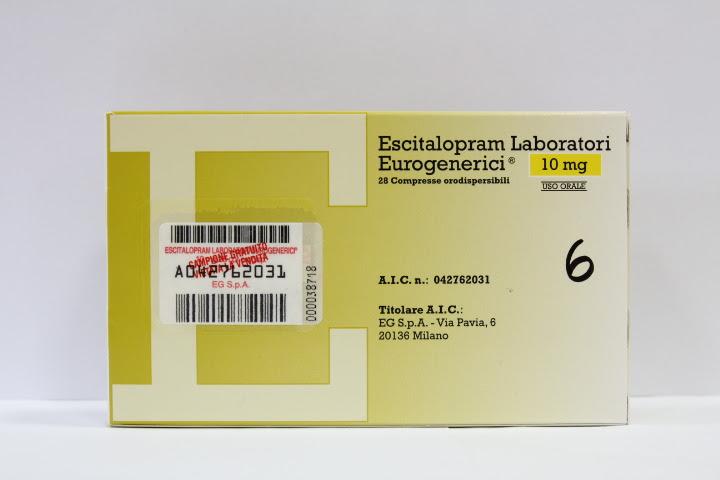 Image No: ESCITALOPRAM EU*28CPR ORO 10MG