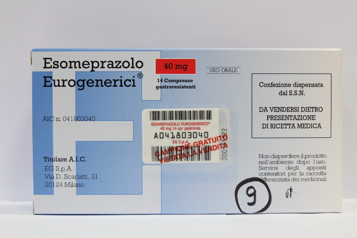 Image No: ESOMEPRAZOLO EU*14CPR GAS 40MG
